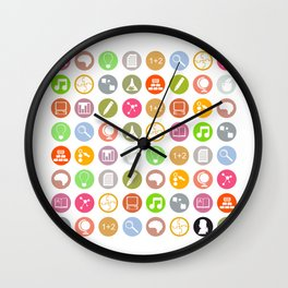 Science - Study Icons Wall Clock