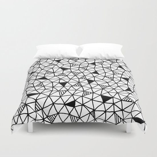 abstract triangle pattern Duvet Cover