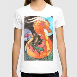 Fantastic animal - My new friend Drago - dragon - by LiliFlore T-shirt