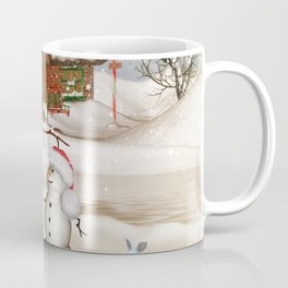 Funny snowmans with christmas hat Coffee Mug