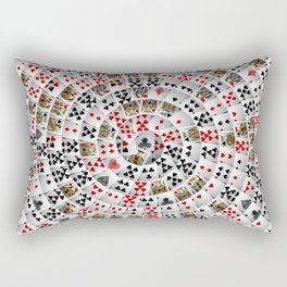 Playing cards swirl Rectangular Pillow