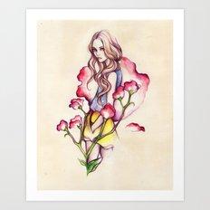 Birth Flower IV - Sweet Pea Art Print