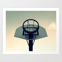 Basketball Sunset Art Print