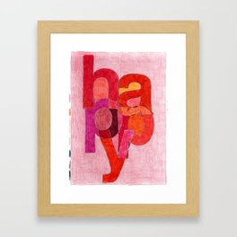 Happy One, from the Happiness Series Framed Art Print