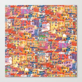 Seamless Cinque Terre Canvas Print