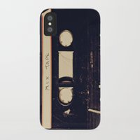 tape iPhone & iPod Cases featuring mix tape by Marianne LoMonaco