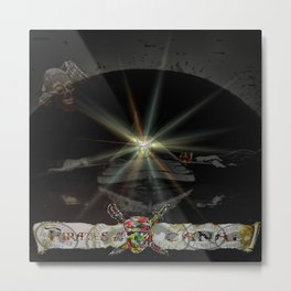 Pirates in the canal tunnel Metal Print