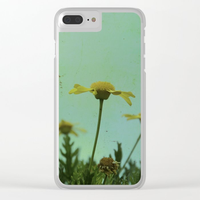 Fragile Flowers Clear iPhone Case