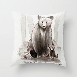 The Bearclan Throw Pillow