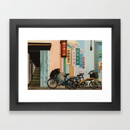 Bicycle Shadows Framed Art Print