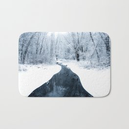 winter walk Bath Mat