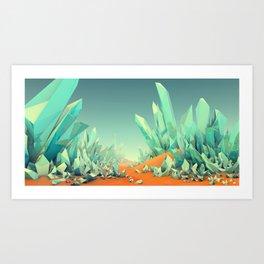The Crystal Desert Art Print