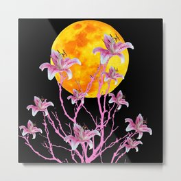PINK ASIATIC STAR LILIES MOON FANTASY Metal Print