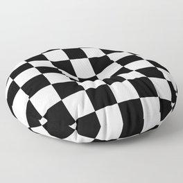 Checker (Black/White) Floor Pillow