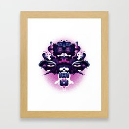 Rorschach madness Framed Art Print