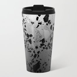 Concrete and Marble Mix Black Gradient Travel Mug