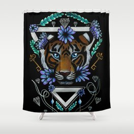 Powerful Tiger  Shower Curtain