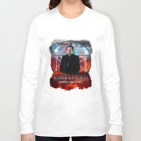 crowley Long Sleeve T-shirts featuring Supernatural Crowley King of Hell S6 by Jamie Fontaine