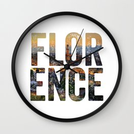 Florence City Wall Clock