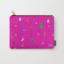 Christmas In Pink Carry-All Pouch
