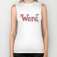 word Biker Tanks featuring Word by greckler