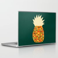 pineapple Laptop & iPad Skins featuring Pineapple by Picomodi