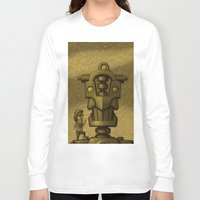 superheroes Long Sleeve T-shirts featuring Superheroes SF by Rob Colvin Art