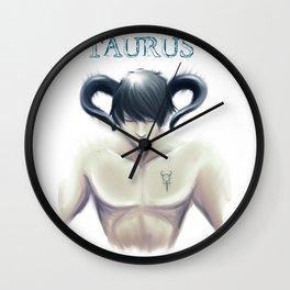 Taurus Sign - Zodiac series by OccultArt Wall Clock