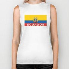 Ecuador country flag name text Biker Tank