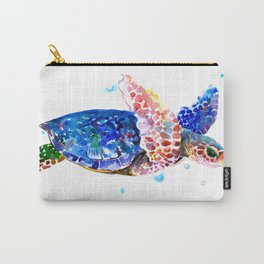 Sea Turtle, blue rainbow Carry-All Pouch