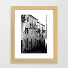 Lisbon Streets Framed Art Print