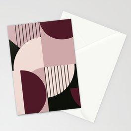 Modern Memphis 2 (cherry cream pallette) Stationery Cards