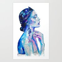 queen Art Prints featuring Queen by Andreea Maria Has