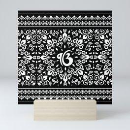 Ek Onkar / Ik Onkar Black and white #5 Mini Art Print