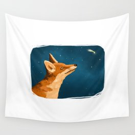 Fox and Stars Wall Tapestry