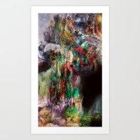 Descending to Underworld Paradise Art Print