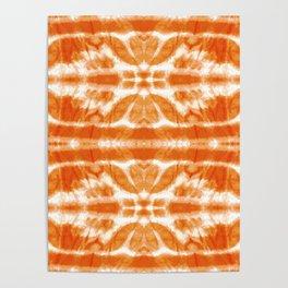 Orange Tie-Dye Twos Poster