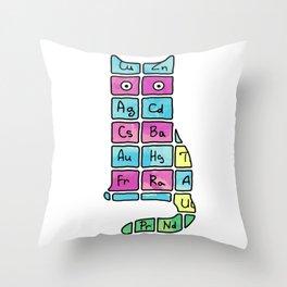 Science. Cat. Chemistry. Mendeleev. Throw Pillow