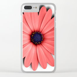 Coral Bloom Clear iPhone Case