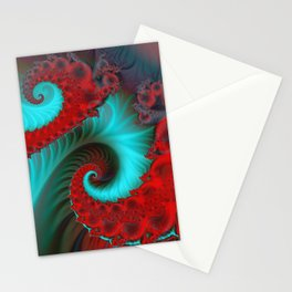 fractal spirals and colors -15- Stationery Cards