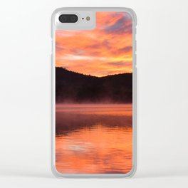 Sunrise Ripples Clear iPhone Case