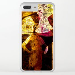 """""""Fall Faces: Roaring Twenties"""" Clear iPhone Case"""