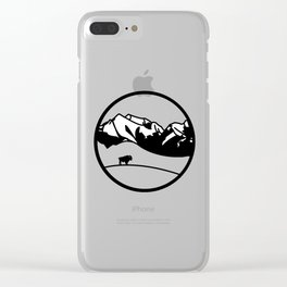 National Bison Range Clear iPhone Case