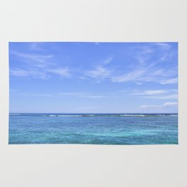 Whispy Clouds and Whitecaps - Tropical Horizons Series Rug