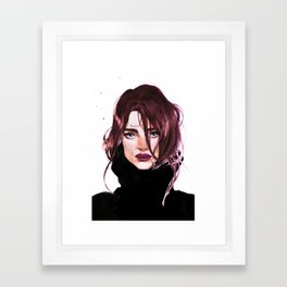 Sketchy watercolor portrait Framed Art Print