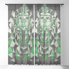 Ghost of Tutankhamun Sheer Curtain