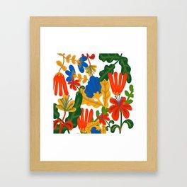 Tropical Flower Pattern II Framed Art Print