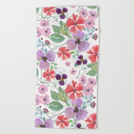Floral pattern 7 Beach Towel