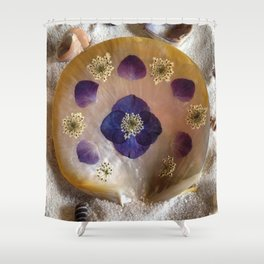Mother of Pearl Shell Shower Curtain