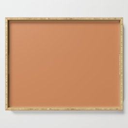 From The Crayon Box – Raw Sienna - Brown Solid Color Serving Tray
